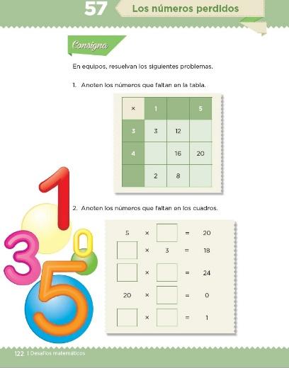 Actividades de matemáticas de tercero de primaria
