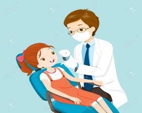Dentista Y Linda En Silla Dental, Medicina, Odontología, Hospital, Chequeo, Paciente, Higiene, Salud, Tratamiento Ilustraciones Vectoriales, Clip Art Vectorizado Libre De Derechos. Image 60339375.