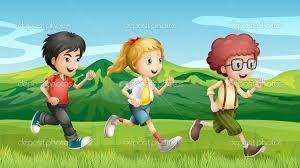 Resultado de imagen para niños corriendo dibujo animado | Running cartoon, Kids running, Cartoon