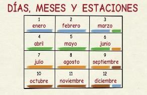 Aprender español: Días, meses y estaciones del año (nivel básico) - YouTube