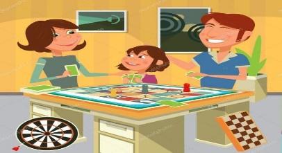 ᐈ Familia ilustraciones dibujos de stock, vectores jugando en familia | descargar en Depositphotos®